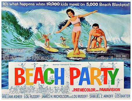 Daniel Hagerman - Beach Party MOVIE LOBBY PROMOTION  1963