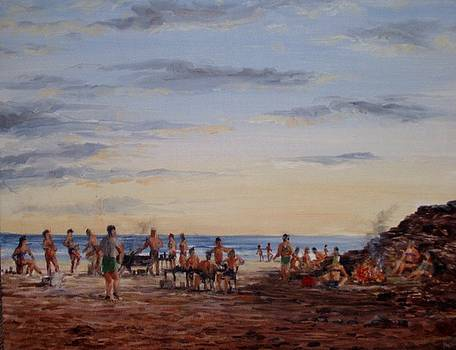 Beach Party by Perrys Fine Art