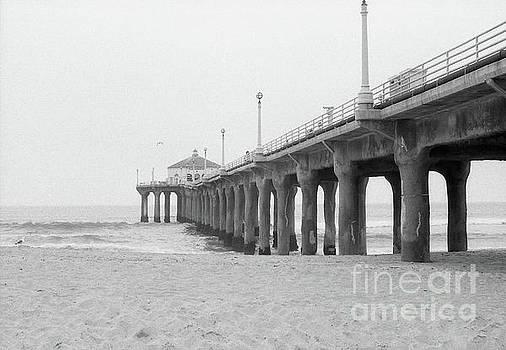 Beach Pier Film Frame by Ana V Ramirez