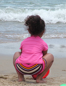 Beach Play 2 by Vickie Roche