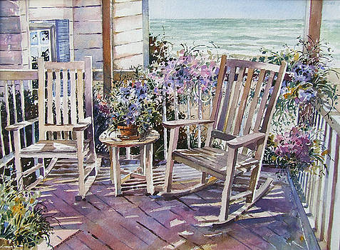 Beach Porch with Ocean View by Beth Kantor