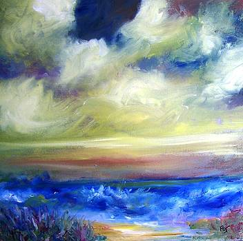 Patricia Taylor - Beach Road with Fluffy Clouds