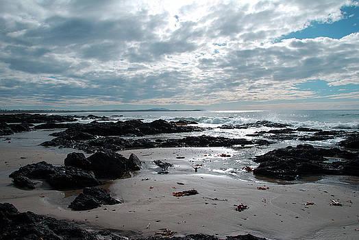 Beach Rocks At Diamond Beach by Joe Scoppa
