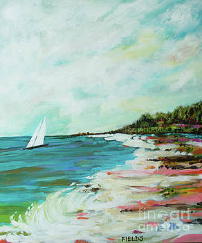 Beach Sailboat by Karen Fields