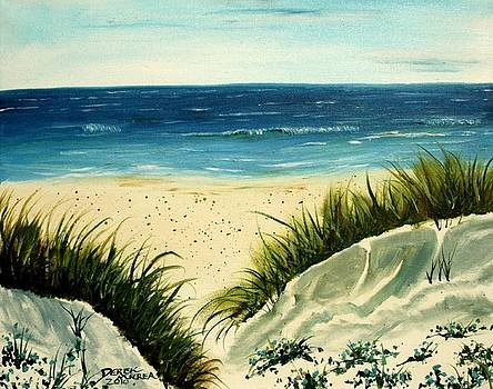 Beach Sand Dunes Acrylic Painting by Derek Mccrea