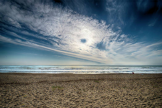 Beach Sand With Clouds - Spiagggia Di Sabbia Con Nuvole by Enrico Pelos