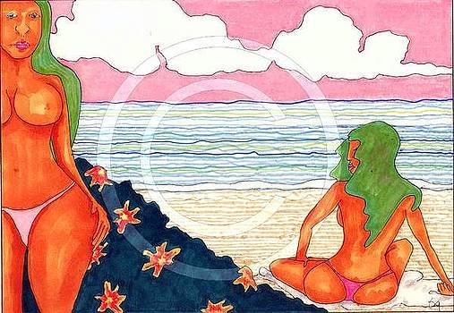 Beach Scene 2 by Ozy Kroll