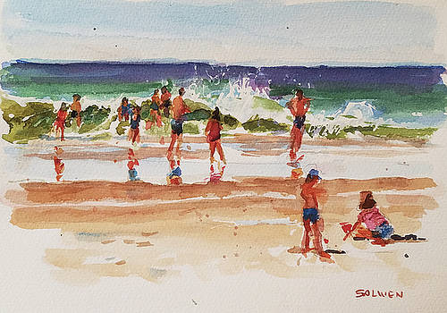 Beach Scene, Afternoon by Peter Salwen