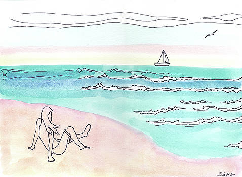 Beach Scene by MJ Cincotta