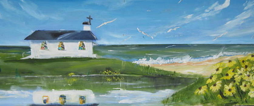 Beach side church by Terrence  Howell