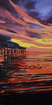 Beach sunrise triptych panel 1 by Julianne Felton