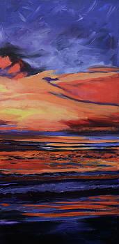 Beach sunrise triptych panel 3 by Julianne Felton