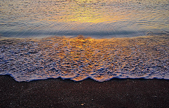 Beach Sunset Abstract I by Debbie Oppermann