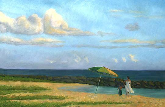 Beach Umbrella by Jane  Simonson