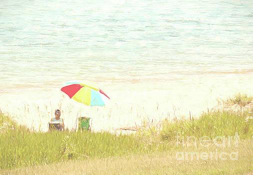 Beach Umbrella by Pam  Holdsworth