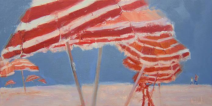 Beach Umbrellas by Barbara Andolsek