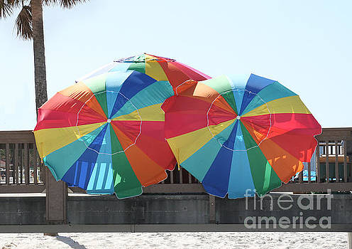 Beach Umbrellas by Lynn Jackson