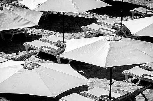 Beach Umbrellas by Marion McCristall