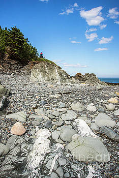 Beach view of West Quoddy Head by Alana Ranney