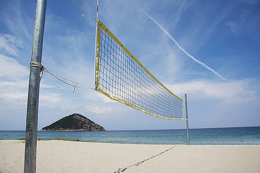 Newnow Photography By Vera Cepic - Beach volley net on a sandy beach