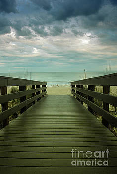 Bridge to Beach by Birgit Tyrrell