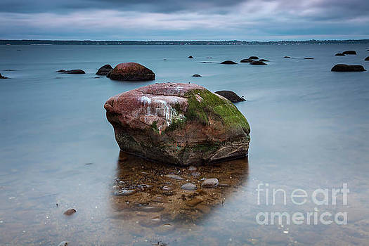 Beach water boulder by Sophie McAulay