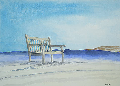 Beached Bench by Cynthia Schoeppel