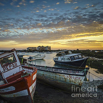Beached Boats on Trocadero Pipe Puerto Real Cadiz Spain by Pablo Avanzini