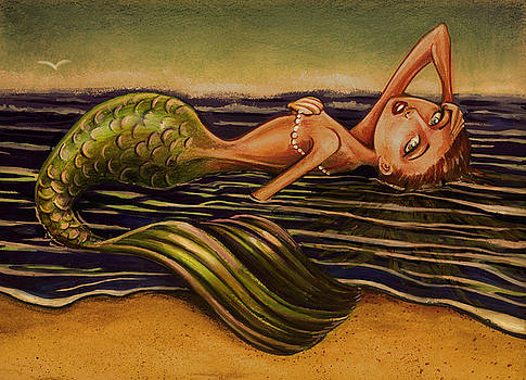 Beached Mermaid by Michael Scholl