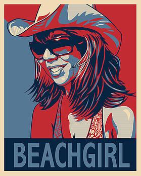 Beachgirl by Sue  Brehant