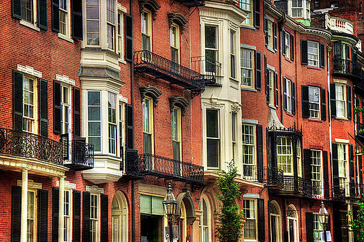 Beacon Hill Brownstones - Boston by Joann Vitali
