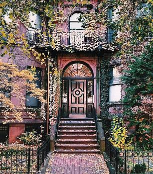 Beacon Street golden doortrait by Brian McWilliams