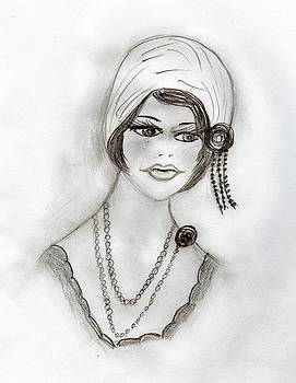 Beaded Flapper Girl by Sonya Chalmers
