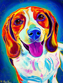 Beagle - Lucy by Alicia VanNoy Call