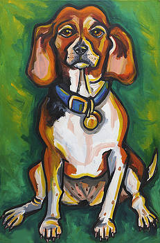 Beagle Portrait by Ilene Richard