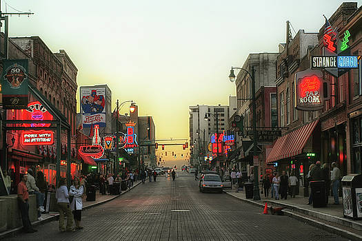 Beale Street Evening by Debby Richards