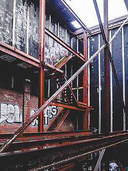 Beams and Stairs - Abandoned Building by Dylan Murphy