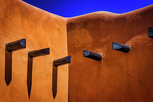 Beams In Adobe Wall by Garry Gay