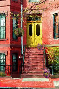 Thomas Logan - Beantown Brownstone with yellow doors