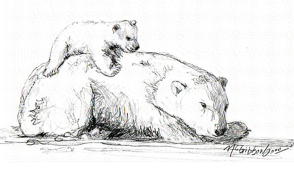Bear and Cub by Dan McGibbon