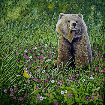 Bear Enjoying Mother Nature by Manuel Lopez