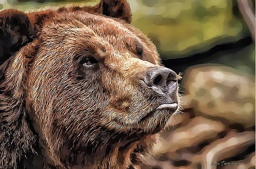 Bear Kiss by Kathy Tarochione