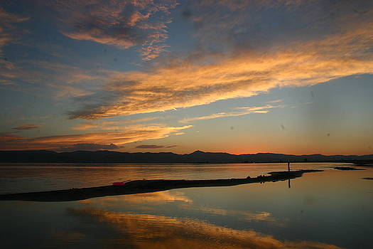 Bear Lake sun set by L J Penrod