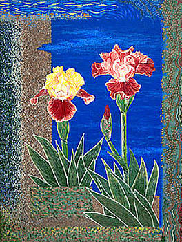 Baslee Troutman - Bearded Irises Cheerful Fine Art Print Giclee High Quality Exceptional Color