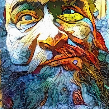 Bearded Man's Face by Bruce Rolff