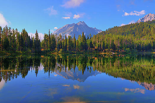 Bearpaw Lake Reflections by Greg Norrell