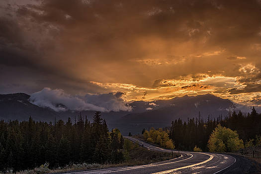 Beartooth Highway Sunset Wyoming by Steve Gadomski