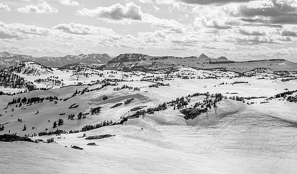 Beartooth Pass Winterscape Black And White by Dan Sproul