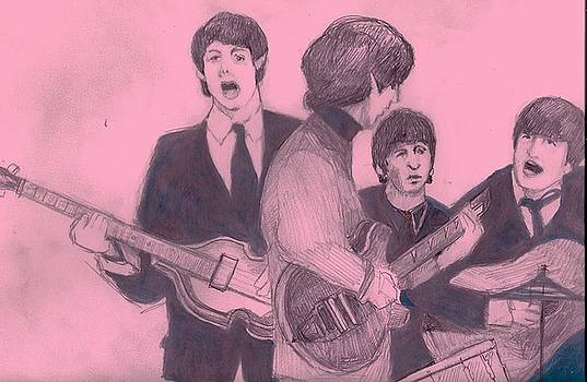 Beatles At Work by Michael Hogan