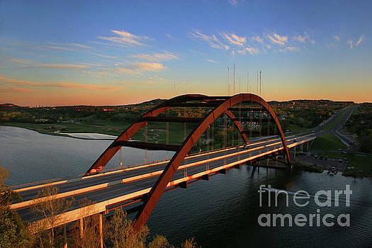 Herronstock Prints - Beautiful afternoon Sunset at the 360 Bridge Pennybacker Bridge